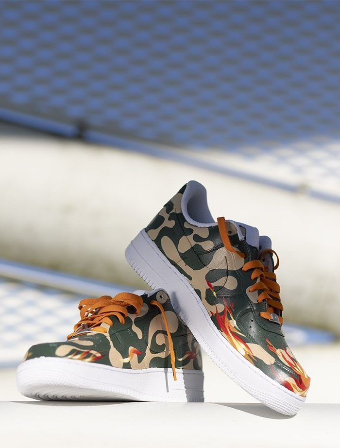 custom air force nike camo 3